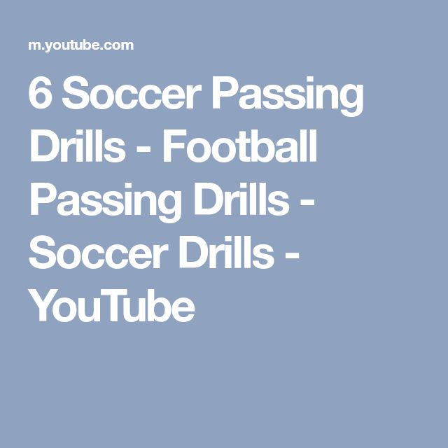 6 Soccer Passing Drills - Football Passing Drills - Soccer Drills - YouTube