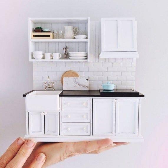Miniatur-küche Skalieren Inch-skala Dern küche für