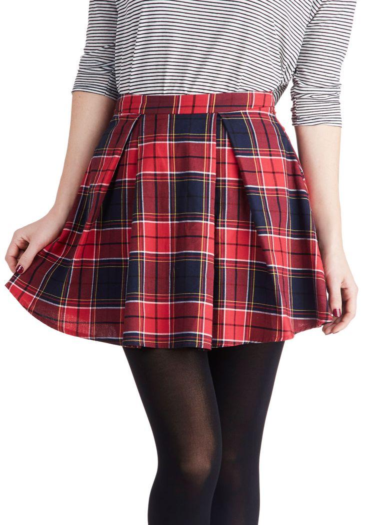 Plaid Red Skirt 44