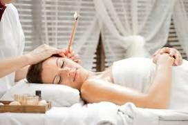HOPI EAR CANDLING  Hopi Ear Candles are hollow tubes made of cotton, soaked in beeswax, honey and herbs.  When lit, the candle acts like a chimney, causing the warm air inside it to rise and creating a vacuum at the bottom.  The vacuum gently stimulates the ear, facilitating removal of excess wax and impurities.