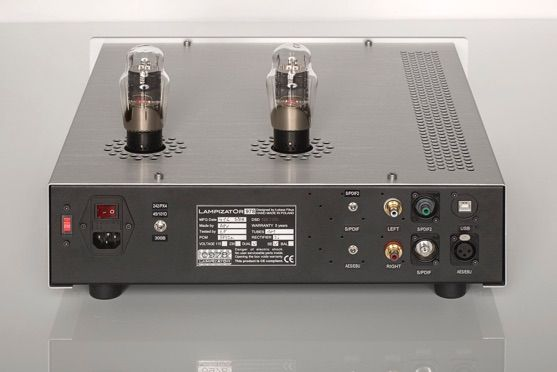 TECHNICAL HIGHLIGHTS -Special Dac for most demanding market: Swizerland and Germany -Directly Heated Triodes with possibility of tube rolling from 101D to 45, PX4 or 300B -The best Lampizator PCM engine to date -Superb capacitors in output stage: Mundorf Supreme Silver/Gold, Mundorf MLytic power supply,  -USB and SPDIF as standard,  no DSD. www.lampizator.eu