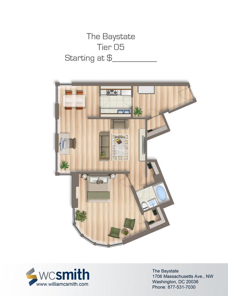 24 best the baystate images on pinterest studio - 1 bedroom apartments washington dc ...
