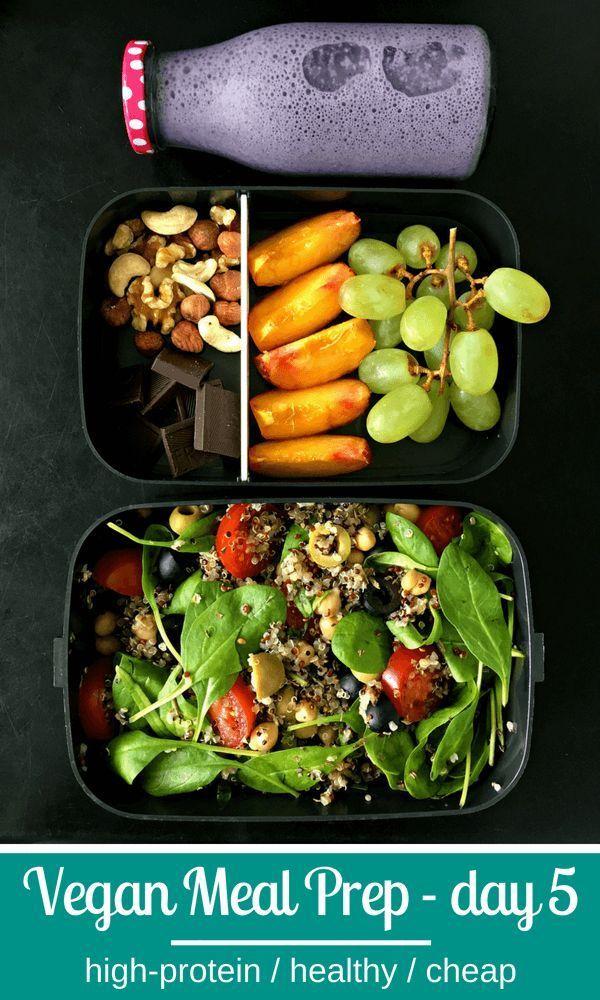 5 Tage einfache, proteinreiche Vegan Meal Prep-Ideen zur Gewichtsreduktion. Leck…   – Vegane Rezepte