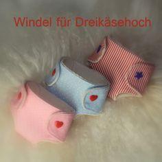 Barbaras Blumenkinder und Puppen Welt: DREIKÄSEHOCH GEHT SCHLAFEN #6 Windel für deine Puppe selber nähen Freebook * gratis DIY *