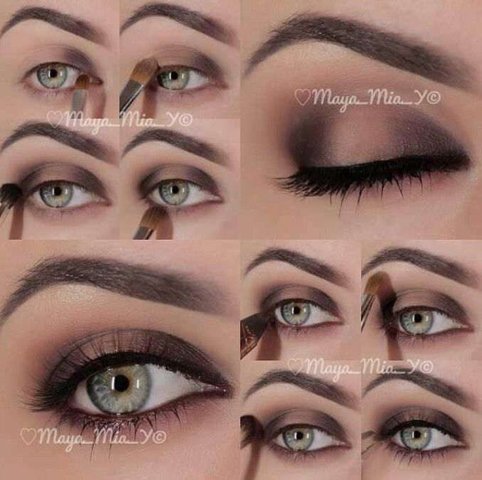 How To Apply Wedding Makeup Step By Step : Eyeshadow, Step by step and DIY and crafts on Pinterest