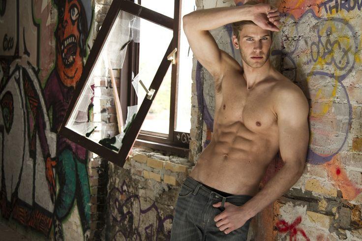 Christopher Blom by Paul van der Linde (2011) #ChristopherBlom #PaulVanDerLinde #model #malemodel #Danish #UniqueModels #graffiti #bas #pecs