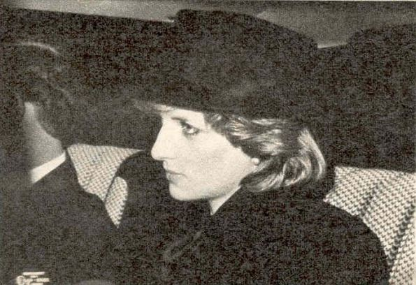 January 24, 1984:  Prince Charles & Princess Diana attend the funeral of Henry Hugh Arthur FitzRoy Somerset, 10th Duke of Beaufort, at the Parish Church of St Michael and All Saints in Badminton, Gloucestershire