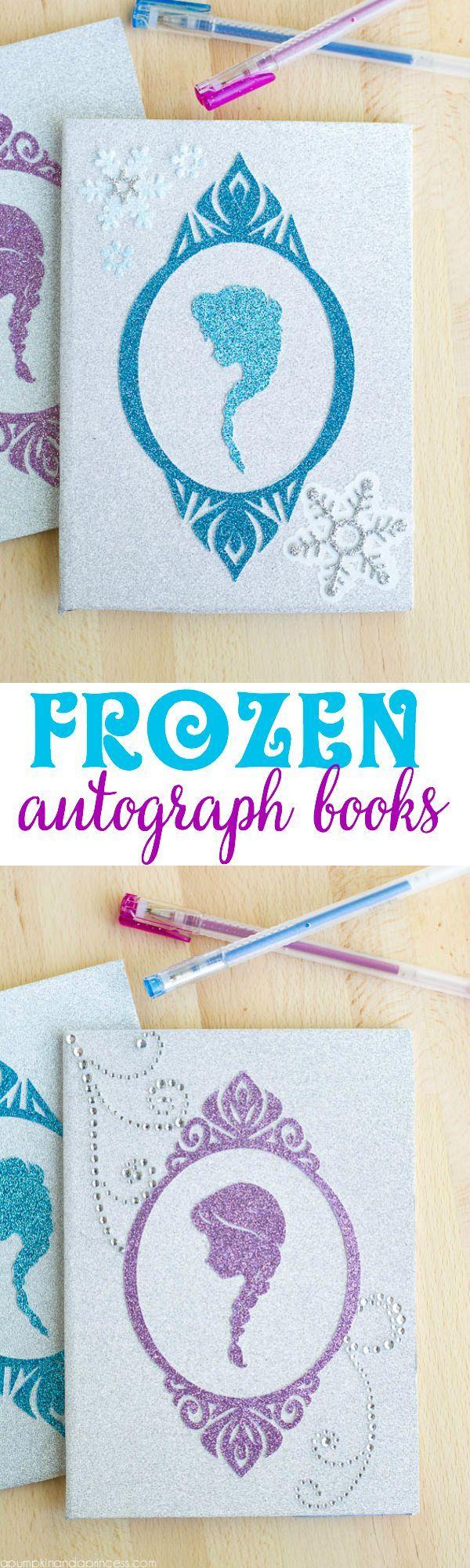 DIY Frozen Autograph Book by MichaelsMakers A Pumpkin And A Princess