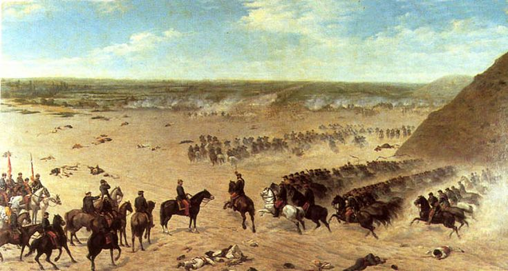 Carga de Granaderos a Caballo, Batalla de Chorrillos.