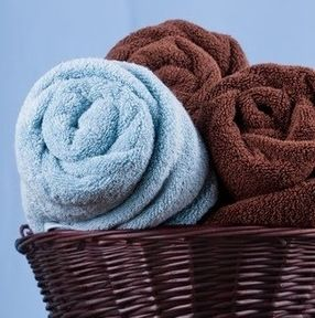 roll towels instead of folding them