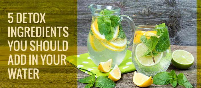 Try adding the below 5 naturally detoxifying ingredients to your water and take your detox game to the next level.