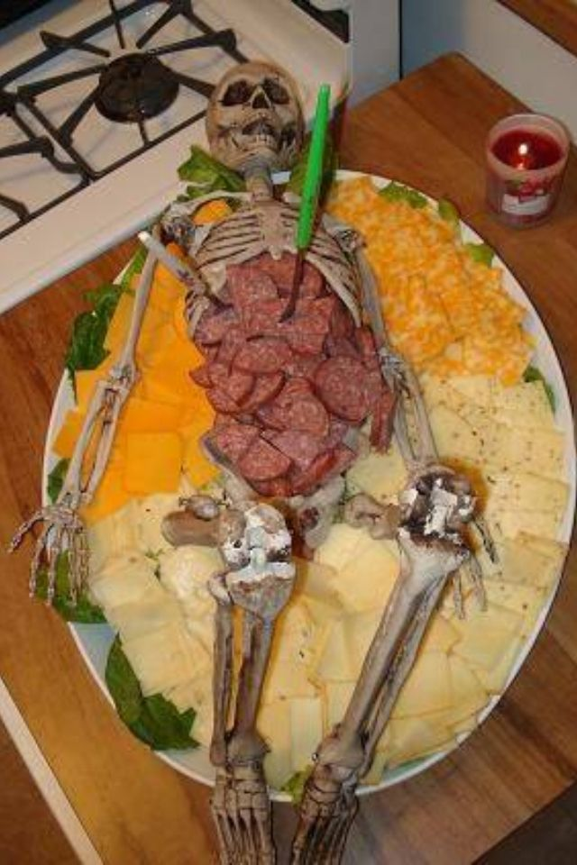 halloween corpse buffet for a haunted hospital theme re sized meat cheese - Halloween Party Appetizers With Pictures