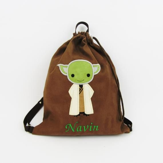 Plecak Star War Worek Yoda Plecak Przedszkolaka Plecak Z Imieniem Worek Na Buty Personalizowany Prezent Personalizowa Bags Drawstring Backpack Baby Gifts