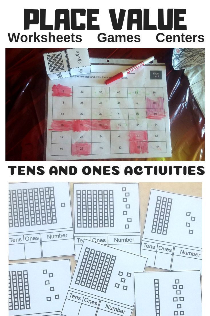 Practice Place Value With Tens And Ones With This Worksheet Games And Center Activity Pack Placevalue Place Values Math Activities Elementary School Math [ 1102 x 735 Pixel ]