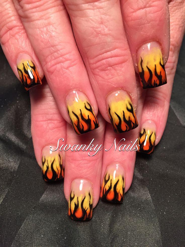 Best 25+ Flame nail art ideas on Pinterest | Fire nails ...