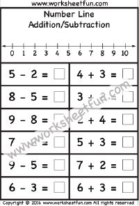 number line mixed addition subtraction 1 worksheet all grades subtraction worksheets. Black Bedroom Furniture Sets. Home Design Ideas