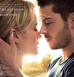 The Lucky One -  Yes that was me the Lucky One when I got to see this movie!!!  Whew.  Oh yea it is a good book too.Good Book
