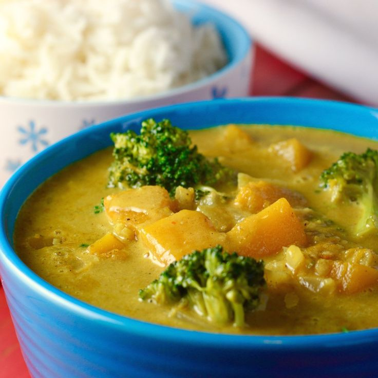 Coconut Curry with Red Kuri Squash. Delicious!!
