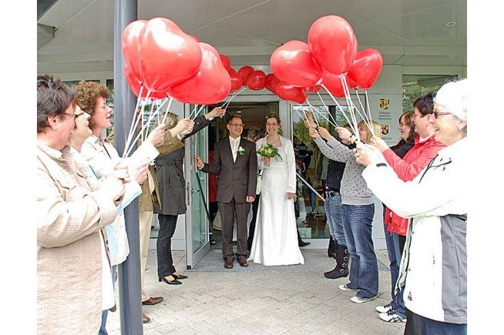 Die Ballondrucker: Dekoset: Spalier aus Herzluftballons ( 100 Stück ) - Die Ballondrucker - Westeifel Werke