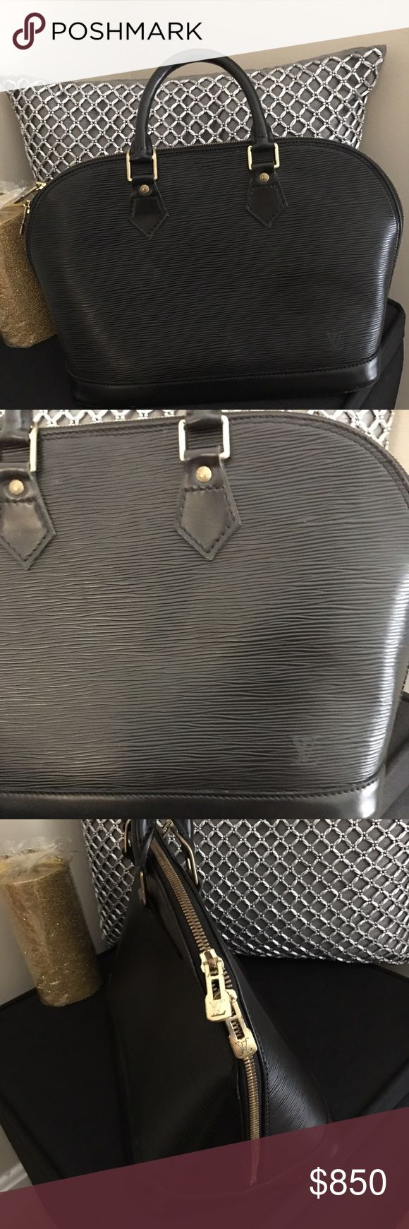 Authentic Louis Vuitton Alma Black Medium size. A little too small for all of my stuff!! Louis Vuitton Bags Totes
