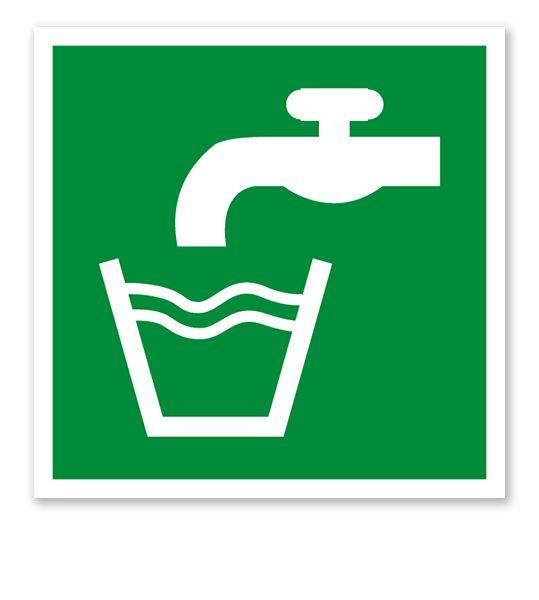 Rettungszeichen Trinkwasser nach DIN EN ISO 7010 #trinkwasser