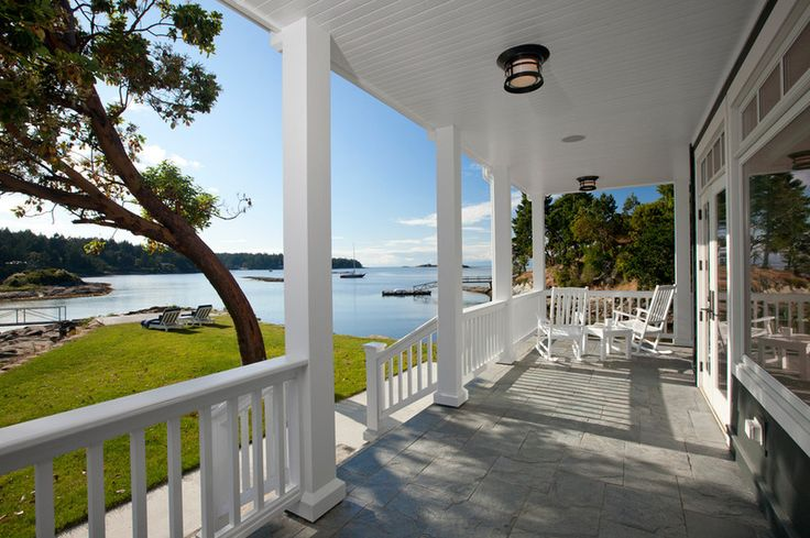 love this front porch and the view!  traditional porch by jodi foster design + planning