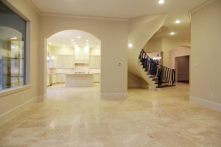 travertine floor with wood frame - Google Search | Home ...