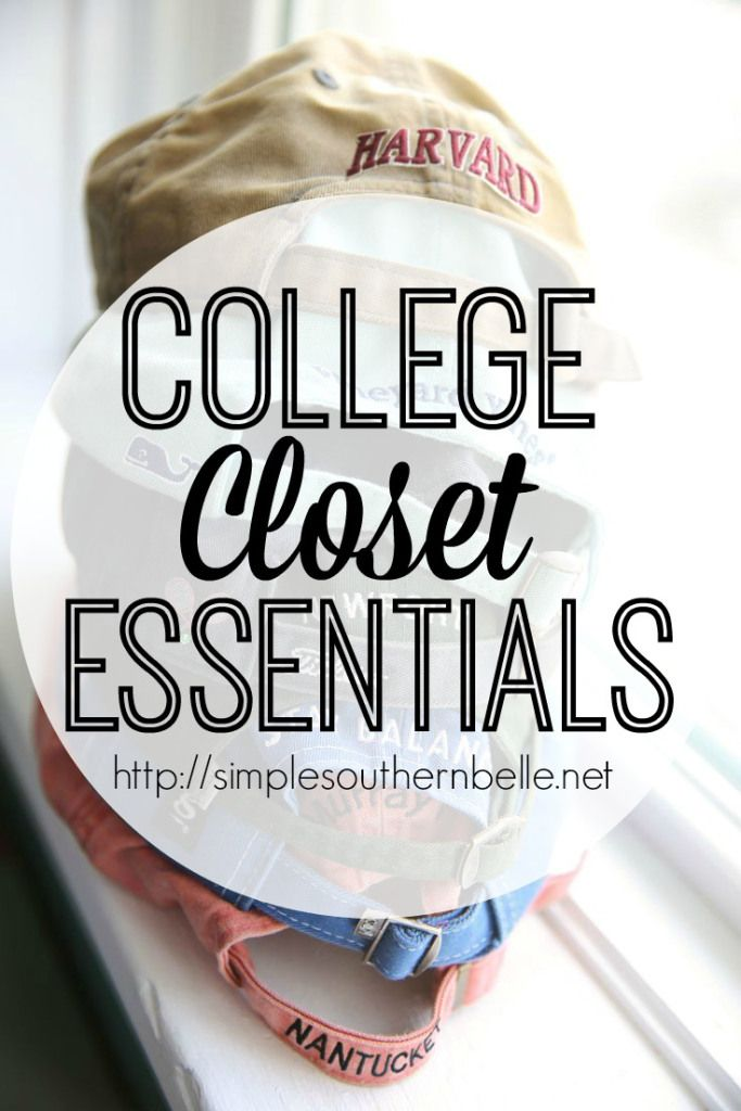 Dorm room closets can be small so packing the essentials is a must when it comes to college.   http://simplesouthernbelle.net