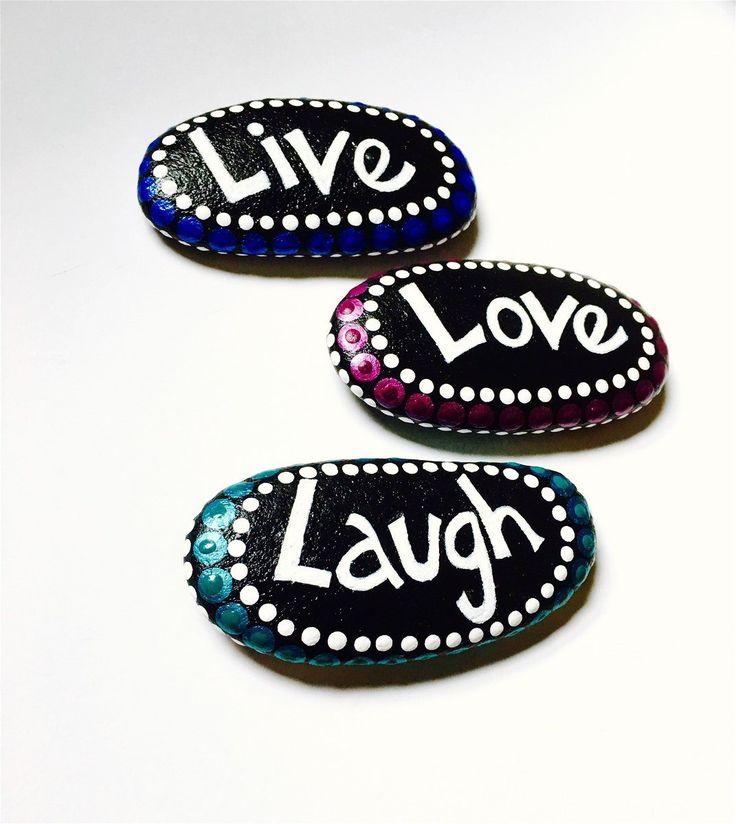 Live Love Laugh Painted Stones