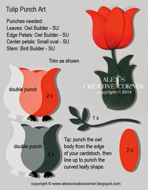 Alex's Creative Corner: Tulip Punch Art Instructions Stampin' Up!