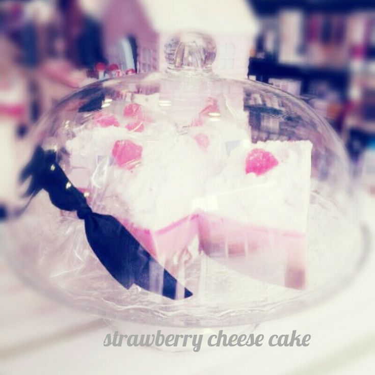 Strawberry cheese cake soap by Ast Products.
