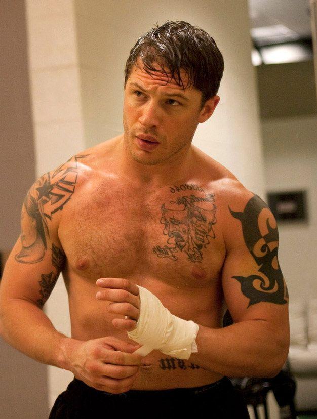 les acteurs muscles du cinema americain  Tom Hardy dans Warrior 19