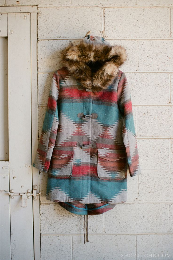 Warm fur-lined winter jacket. #ruche #shopruche #equestrian