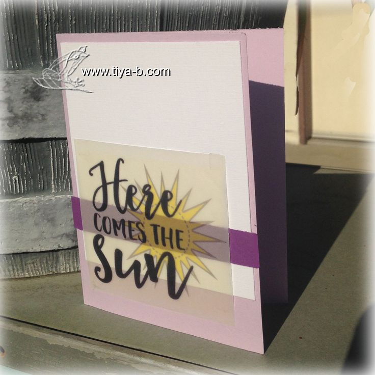 Handmade card by Tiya-B using the Rise and Shine digital set from Verve. #vervestamps