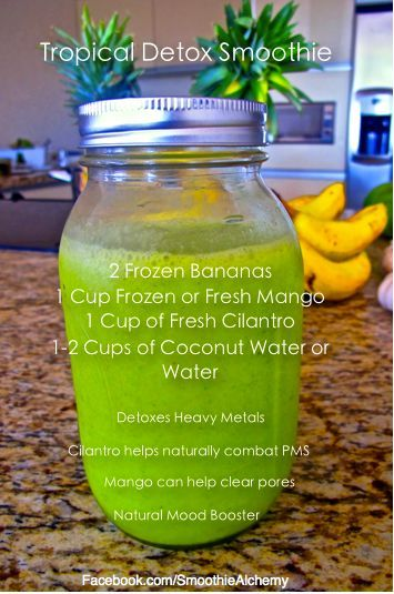 Tasty Tropical Detox Smoothie Recipe.