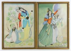 7073 - Pr. 19th C. Middle-Eastern Watercolor Paintings Autumn Estate Auction | Official Kaminski Auctions