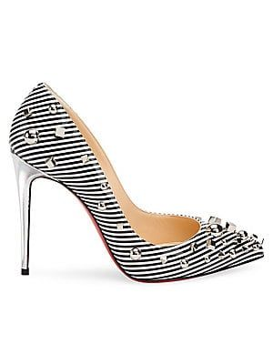 8cd32285a Christian Louboutin Aimanta 100 Stripe Patent Leather Point Toe Pumps. Find  this Pin and more on sexy women's shoes(stiletto heels ...