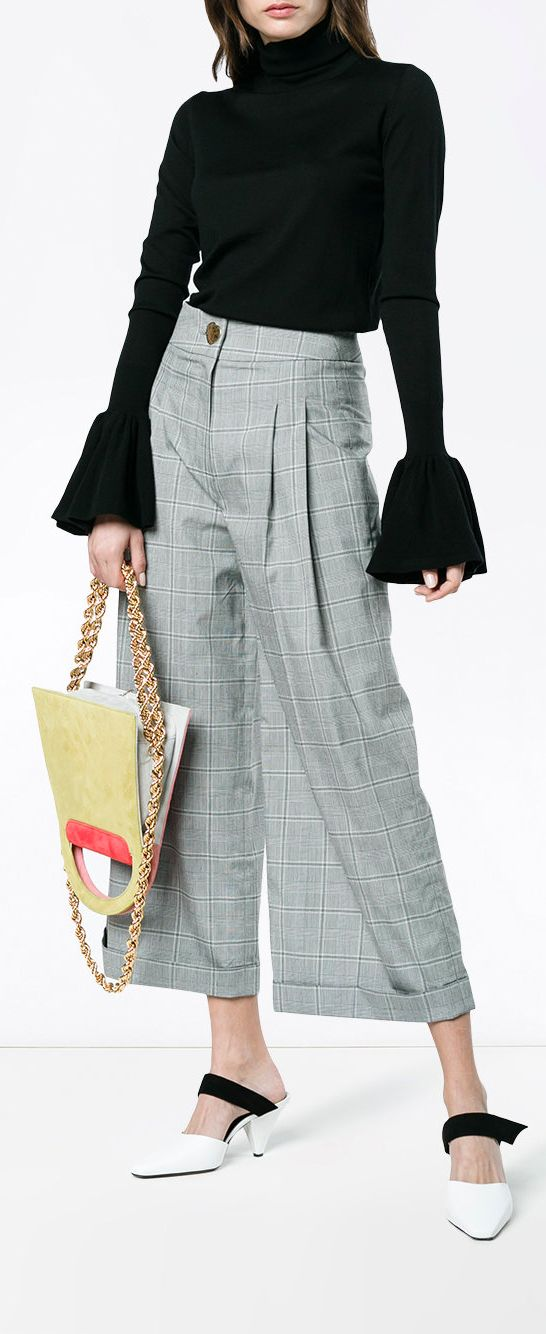 REJINA PYO  cropped wide leg checked trousers, explore new season Rejina Pyo on Farfetch now.
