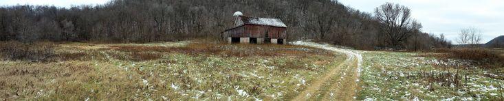 Barn turned landmark (more in comments) - Pierce County - Western Wisconsin [OC][8455 x 1707]