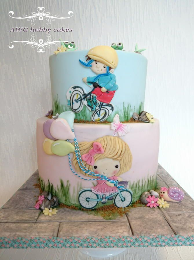 Bicycle double party by AWG Hobby Cakes