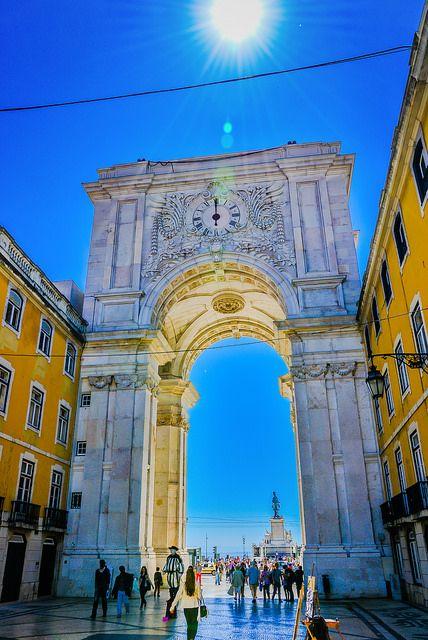Arco Triunfal (Triomfboog) da Rua Agusta, stadsdeel Baixa, Lisboa