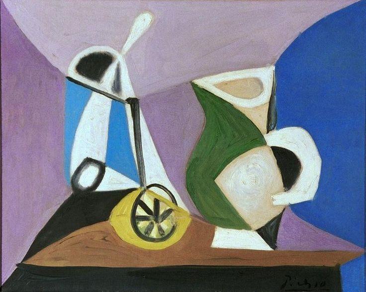 Pablo Picasso 1881 1973 Verre Et Pichet