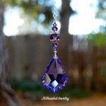 Purple Teardrop Crystal