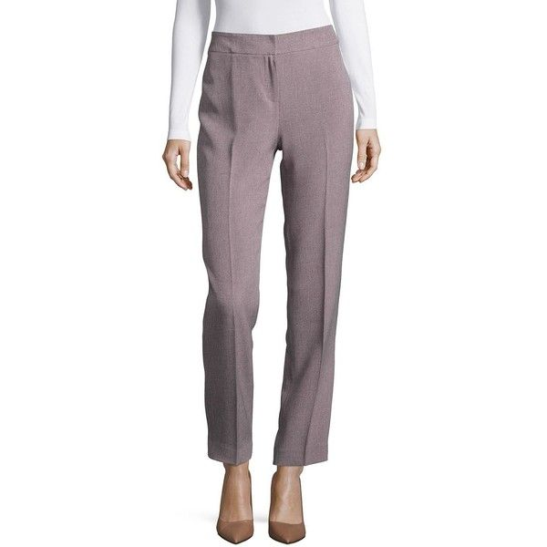Nipon Boutique Women's Kristy Slim Fit Trouser Pants ($24) ❤ liked on Polyvore featuring pants, lilac black, zipper trousers, slim pants, slim fit trousers, slim fitted pants and lilac pants