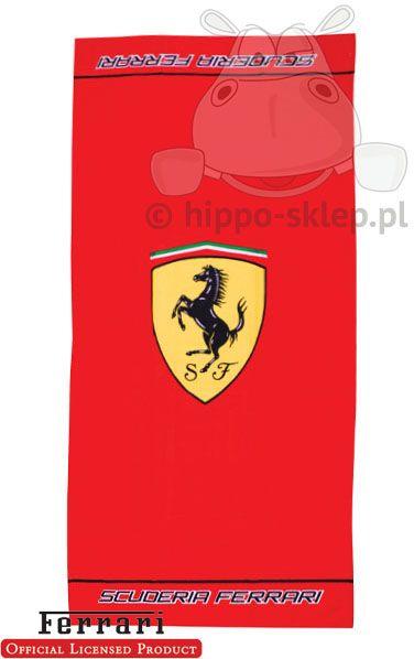 Ferrari Scuderia logo beach towel
