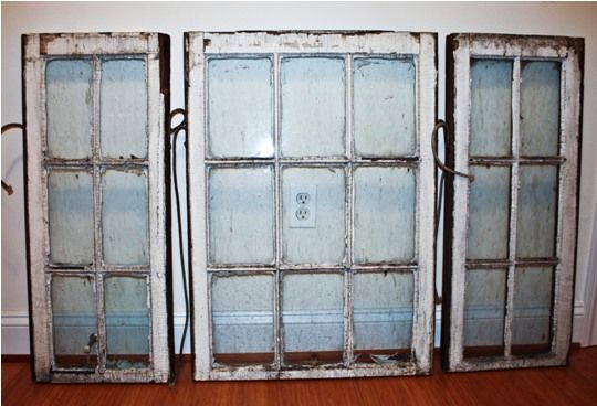 site on how to clean up old wood windows/ doors with tips to avoiding the lead paint trouble and sealing them well for decorative use. perfect!
