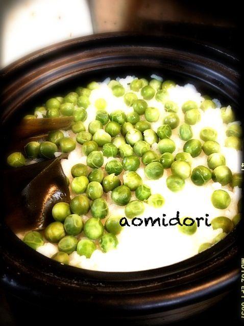 この季節、一度は食べたい豆ご飯 - 31件のもぐもぐ - 土鍋で豆ご飯 by aomidori