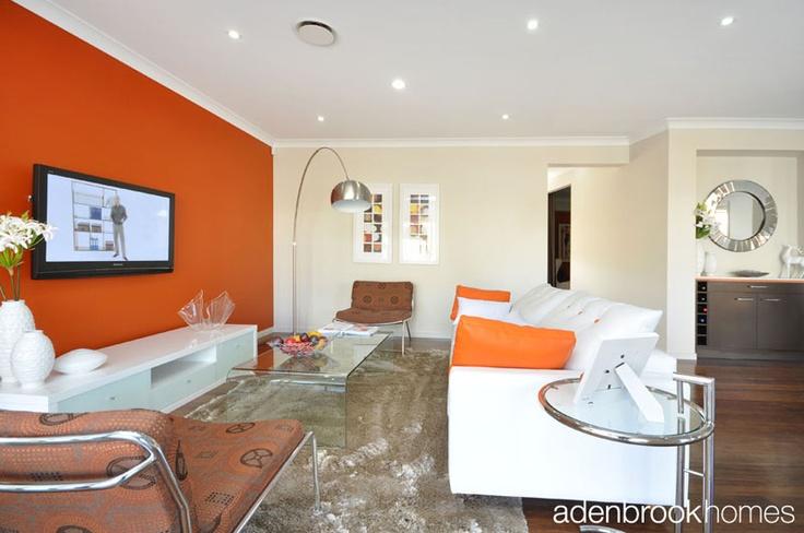 Lounge room with retro 60s theme.
