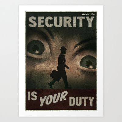 Fallout Security  Art Print by Chimaera Designs - $16.00