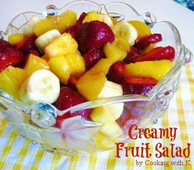 Creamy Fruit Salad by Cooking with K | Kay Little